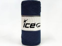 Lot of 2 x 200gr Skeins Ice Yarns SHINY COTTON (30% Cotton) Yarn Blue
