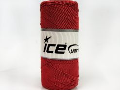 Lot of 2 x 200gr Skeins Ice Yarns SHINY COTTON (30% Cotton) Yarn Red