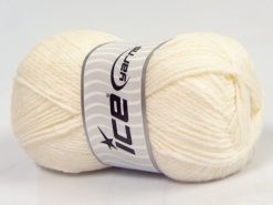 Lot of 4 x 100gr Skeins Ice Yarns NATURAL BABY (10% Bamboo 14% Cotton) Yarn White Cream