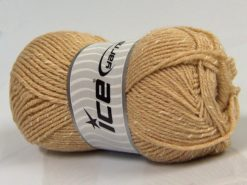 Lot of 4 x 100gr Skeins Ice Yarns NATURAL BABY (10% Bamboo 14% Cotton) Yarn Light Camel Cream