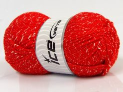 Lot of 4 x 100gr Skeins Ice Yarns NATURAL BABY (10% Bamboo 14% Cotton) Yarn Red Cream