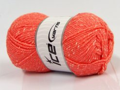 Lot of 4 x 100gr Skeins Ice Yarns NATURAL BABY (10% Bamboo 14% Cotton) Yarn Salmon Cream