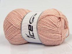 Lot of 4 x 100gr Skeins Ice Yarns NATURAL BABY (10% Bamboo 14% Cotton) Yarn Powder Pink Cream