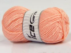 Lot of 4 x 100gr Skeins Ice Yarns NATURAL BABY (10% Bamboo 14% Cotton) Yarn Light Salmon Cream