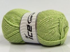Lot of 4 x 100gr Skeins Ice Yarns NATURAL BABY (10% Bamboo 14% Cotton) Yarn Light Green Cream