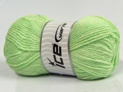 Lot of 4 x 100gr Skeins Ice Yarns NATURAL BABY (10% Bamboo 14% Cotton) Yarn Mint Green Cream