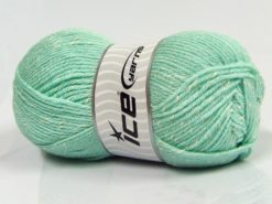 Lot of 4 x 100gr Skeins Ice Yarns NATURAL BABY (10% Bamboo 14% Cotton) Yarn Water Green Cream