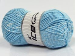 Lot of 4 x 100gr Skeins Ice Yarns NATURAL BABY (10% Bamboo 14% Cotton) Yarn Baby Blue Cream