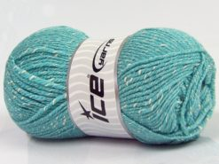 Lot of 4 x 100gr Skeins Ice Yarns NATURAL BABY (10% Bamboo 14% Cotton) Yarn Light Turquoise Cream