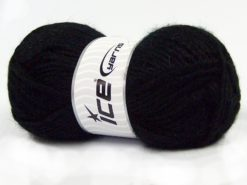 Lot of 4 x 100gr Skeins Ice Yarns MOHAIR BULKY (5% Mohair 10% Wool) Yarn Black