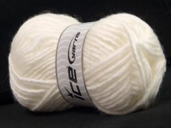 Lot of 4 x 100gr Skeins Ice Yarns MOHAIR BULKY (5% Mohair 10% Wool) Yarn White