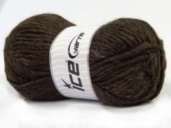 Lot of 4 x 100gr Skeins Ice Yarns MOHAIR BULKY (5% Mohair 10% Wool) Yarn Coffee Brown