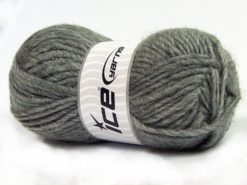 Lot of 4 x 100gr Skeins Ice Yarns MOHAIR BULKY (5% Mohair 10% Wool) Yarn Grey