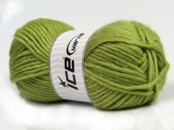 Lot of 4 x 100gr Skeins Ice Yarns MOHAIR BULKY (5% Mohair 10% Wool) Yarn Light Green