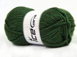 Lot of 4 x 100gr Skeins Ice Yarns MOHAIR BULKY (5% Mohair 10% Wool) Yarn Dark Green