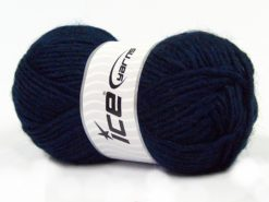 Lot of 4 x 100gr Skeins Ice Yarns MOHAIR BULKY (5% Mohair 10% Wool) Yarn Navy