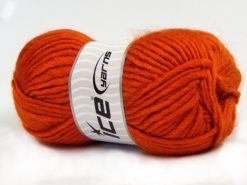 Lot of 4 x 100gr Skeins Ice Yarns MOHAIR BULKY (5% Mohair 10% Wool) Yarn Orange