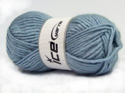 Lot of 4 x 100gr Skeins Ice Yarns MOHAIR BULKY (5% Mohair 10% Wool) Yarn Light Blue