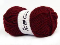 Lot of 4 x 100gr Skeins Ice Yarns MOHAIR BULKY (5% Mohair 10% Wool) Yarn Burgundy