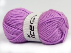 Lot of 4 x 100gr Skeins Ice Yarns MOHAIR BULKY (5% Mohair 10% Wool) Yarn Lilac