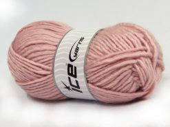 Lot of 4 x 100gr Skeins Ice Yarns MOHAIR BULKY (5% Mohair 10% Wool) Yarn Powder Pink