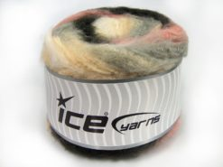 Lot of 2 x 150gr Skeins Ice Yarns CAKES FLUFFY (5% Mohair) Yarn Cream Grey Pink Black