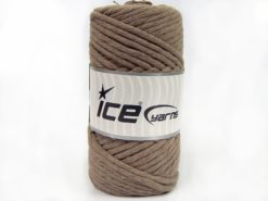 250 gr ICE YARNS NATURAL COTTON JUMBO (100% Cotton) Yarn Light Camel