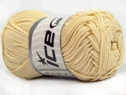 Lot of 4 x 100gr Skeins Ice Yarns MACRAME CORD Hand Knitting Yarn Dark Cream