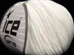 Lot of 8 Skeins Ice Yarns BABY SUMMER DK (50% Cotton) Hand Knitting Yarn White