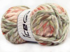 Lot of 4 x 100gr Skeins Ice Yarns ASTORIA (25% Wool) Yarn Cream Pink Shades Brown Shades