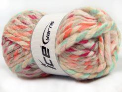Lot of 4 x 100gr Skeins Ice Yarns ASTORIA (25% Wool) Yarn Turquoise Green Cream Brown Fuchsia