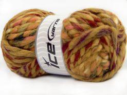 Lot of 4 x 100gr Skeins Ice Yarns ASTORIA (25% Wool) Yarn Caramel Red Pink Dark Green Cream
