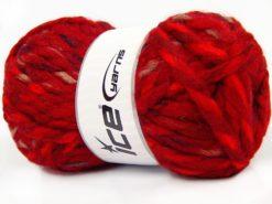 Lot of 4 x 100gr Skeins Ice Yarns ASTORIA (25% Wool) Yarn Dark red Black Camel Cream