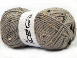 Lot of 4 x 100gr Skeins Ice Yarns SUPER TWEED (20% Wool 5% Viscose) Yarn Light Camel