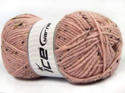 Lot of 4 x 100gr Skeins Ice Yarns SUPER TWEED (20% Wool 5% Viscose) Yarn Pink
