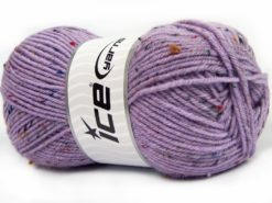 Lot of 4 x 100gr Skeins Ice Yarns SUPER TWEED (20% Wool 5% Viscose) Yarn Lilac