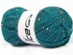 Lot of 4 x 100gr Skeins Ice Yarns SUPER TWEED (20% Wool 5% Viscose) Yarn Dark Teal