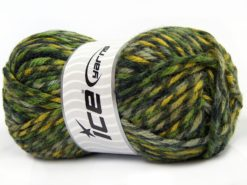 Lot of 4 x 100gr Skeins Ice Yarns THOR (25% Wool) Yarn Green Shades