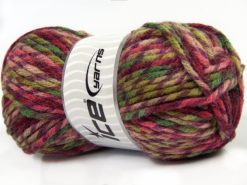 Lot of 4 x 100gr Skeins Ice Yarns THOR (25% Wool) Yarn Purple Shades Green Shades