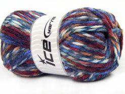 Lot of 4 x 100gr Skeins Ice Yarns THOR (25% Wool) Yarn Blue Shades Purple Burgundy