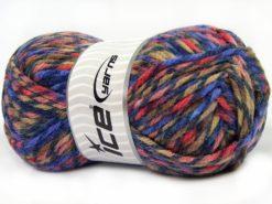 Lot of 4 x 100gr Skeins Ice Yarns THOR (25% Wool) Yarn Lilac Shades Camel Shades Salmon