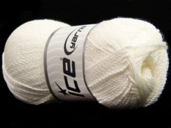 Lot of 4 x 100gr Skeins Ice Yarns WAYUU Hand Knitting Yarn White