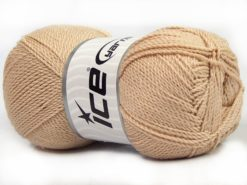 Lot of 4 x 100gr Skeins Ice Yarns WAYUU Hand Knitting Yarn Light Beige