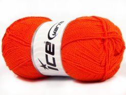 Lot of 4 x 100gr Skeins Ice Yarns WAYUU Hand Knitting Yarn Orange