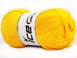 Lot of 4 x 100gr Skeins Ice Yarns WAYUU Hand Knitting Yarn Yellow