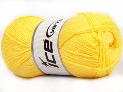 Lot of 4 x 100gr Skeins Ice Yarns WAYUU Hand Knitting Yarn Light Yellow