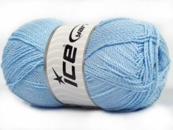 Lot of 4 x 100gr Skeins Ice Yarns WAYUU Hand Knitting Yarn Baby Blue