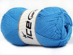 Lot of 4 x 100gr Skeins Ice Yarns WAYUU Hand Knitting Yarn Light Blue