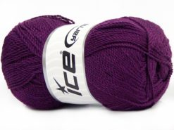 Lot of 4 x 100gr Skeins Ice Yarns WAYUU Hand Knitting Yarn Dark Purple