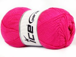 Lot of 4 x 100gr Skeins Ice Yarns WAYUU Hand Knitting Yarn Fuchsia